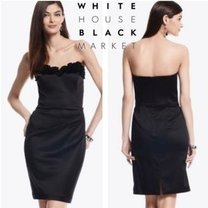 WHBM Black Satin Cocktail Dress